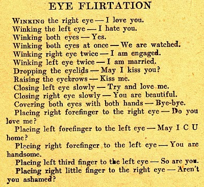 From a flirtation manual circa 1900