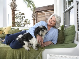 Paula Deen with dog