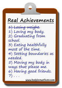 weight loss is not a worthy achievement