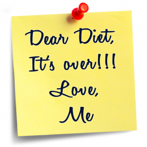 diet break up post it note image