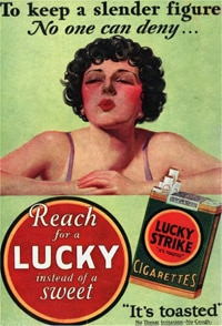lucky strike weight loss ad