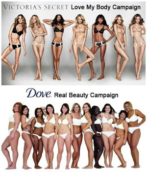 victoria's secret vs dove real beauty