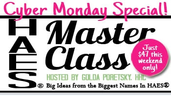HAES Master Class Cyber Monday Special $47