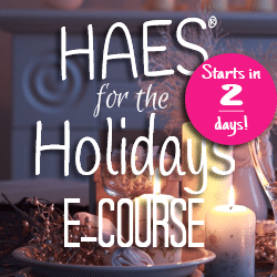 HAES for the holidays square starts in 2 days