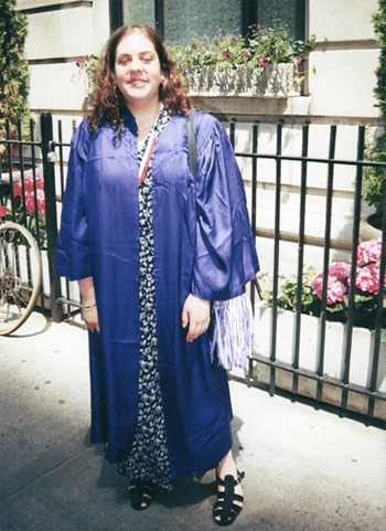 Me in 1999 at the NYU graduation